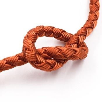 Dragon Braided Cord | 4 mm dia. | Orange | Sold by Metre | CYM06