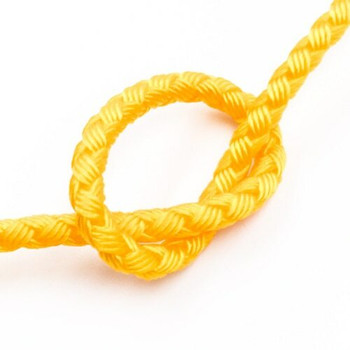 Dragon Braided Cord | 4 mm dia. | Yellow | Sold by Metre | CYM07