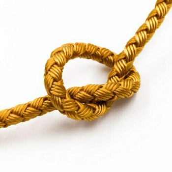 Dragon Braided Cord | 4 mm dia. | Yellow Gold | Sold by Metre | CYM08