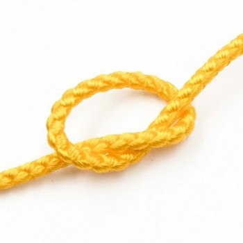 Dragon Braided Cord | 3 mm dia. | Yellow | Sold by Metre | CYM35
