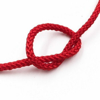 Braided Cord | 3 mm Oval | Red | Sold by Metre | CYM41