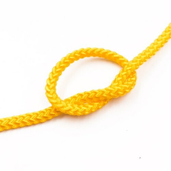 Braided Cord | 3 mm Oval | Yellow | Sold by Metre | CYM42