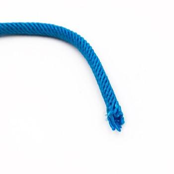 Plied Cord | 5 mm Oval | Cyan | Sold by Metre | CYM51