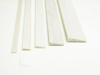 "Balsa wood, Trailing edge, 5/16 x 1 1/4 x 12"", Sold By Each 