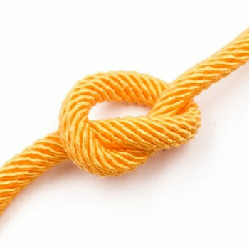 Plied Cord | 5 mm Oval | Yellow | Sold by Metre | CYM53