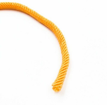 Plied Cord   5 mm Oval   Yellow   Sold by Metre   CYM53