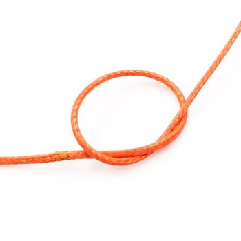Glossy Braided Cord | 1 mm dia. | Orange | Sold by Metre | CYM55