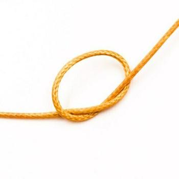 Glossy Braided Cord | 1 mm dia. | Pumpkin Orange | Sold by Metre | CYM56