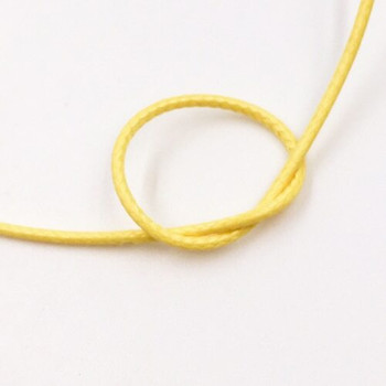 Glossy Braided Cord | 1 mm dia. | Yellow | Sold by Metre | CYM57