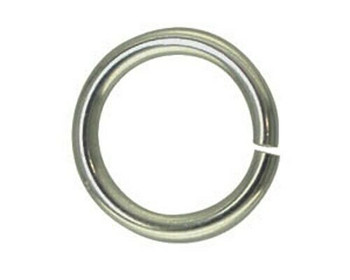 Jump Ring | Round | Nickel Finish 6mm | Sold By 25pc | LKBSK06
