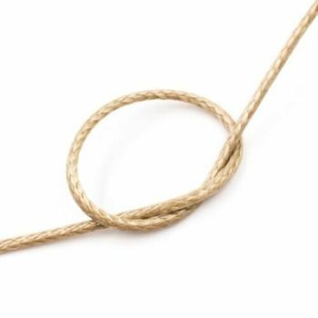 Glossy Braided Cord | 1 mm dia. | Tan | Sold by Metre | CYM75