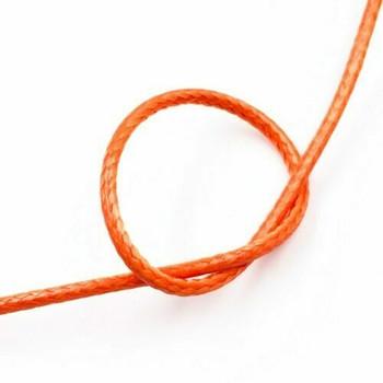 Glossy Braided Cord | 2 mm dia. | Orange | Sold by Metre | CYM83