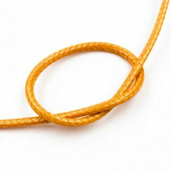 Glossy Braided Cord | 2 mm dia. | Pumpkin Orange | Sold by Metre | CYM84