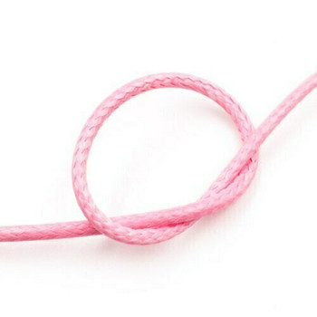 Glossy Braided Cord | 2 mm dia. | Light Pink | Sold by Metre | CYM96