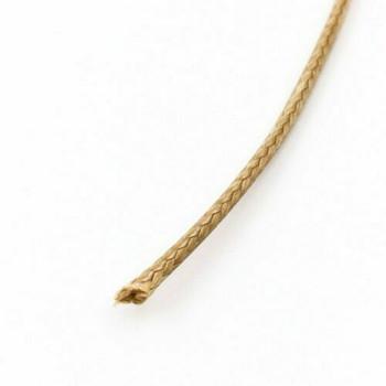 Glossy Braided Cord | 2 mm dia. | Tan | Sold by Metre | CYM102