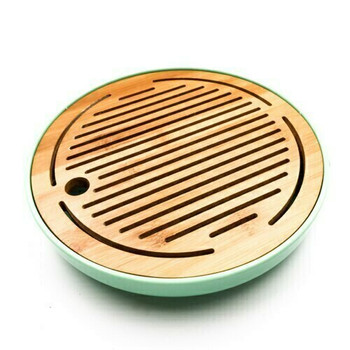 Bamboo Tray with Plastic Base | Teal, 26cm x 26cm | QHS13