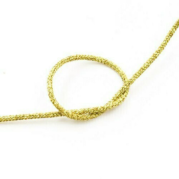 Glitter Knotting Cord | Gold | 1 mm dia. | Sold by Metre | CYM125