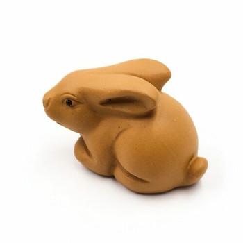Yixing Ceramic Tea Pet   Ochre Bunny   88813