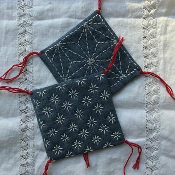 Sashiko Stitched Coaster Workshop with Kate Ward