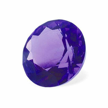 2mm Round Faceted Machine-Cut Amethyst | AA-Grade | 90003