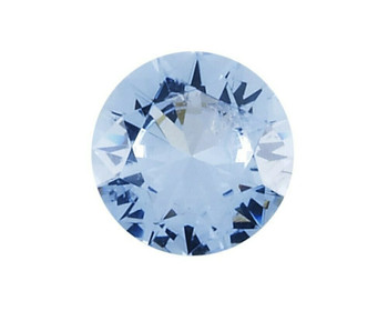 Simulated Round 5mm Aquamarine Faceted Stone   Sold By Each   88126