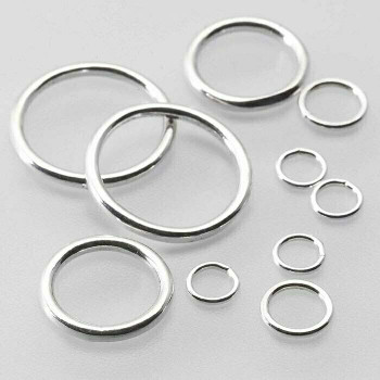 Sterling Silver 20ga Round Closed Ring | 7mm OD | 5.2mm ID | Sold by Each |  693403