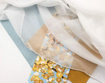 Undyed 100% Silk Scarf 135cm x 220cm   JZS01