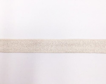 Silver Shimmer Cotton Twill Tape | Large (2cm) |  Sold by Metre | CTTS20