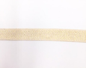 Gold Shimmer Cotton Twill Tape | Large (2cm) |  Sold by Metre | CTTG20