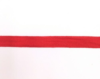 Red Cotton Twill Tape | Large (1.5cm) |  Sold by Metre | CTTR15