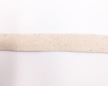 Natural Heavy Cotton Tape   Large (2cm)    Sold by Metre   CTN20