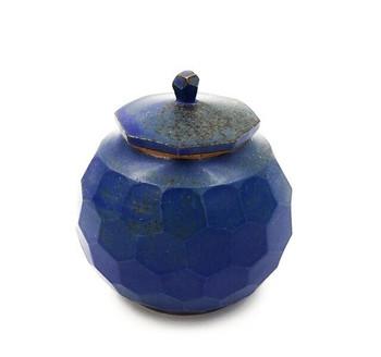 Blue Faceted Ceramic Tea Jar | 145ml | TWJ01