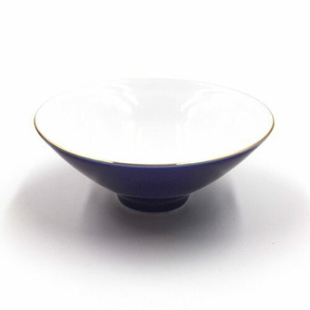 Blue & Gold Shallow Teacup | TWC17