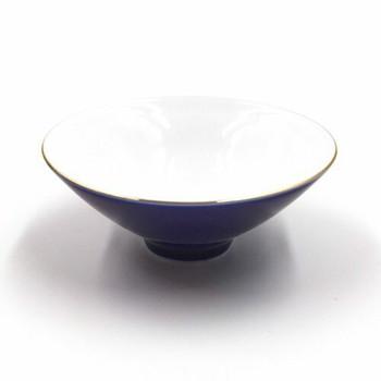 Blue & Gold Shallow Teacup | TWC17