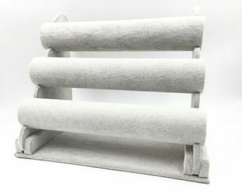 Velvet Multi-Layer Bracelet Display Stand | Grey | LY08