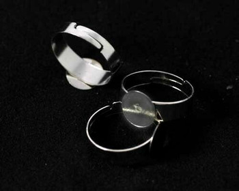 Ring Base | Stainless Adjustable Blank Glue-on | Sold By 5pc | LKSRB010