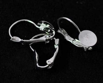 Earring Base Clip | Nickel Finished Base Metal | Sold By 2pc | LKERBC