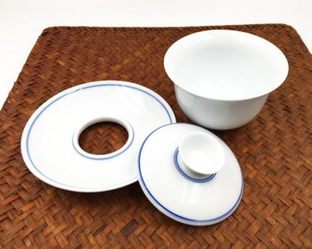 Blue Line Gaiwan Teacup | SJT04