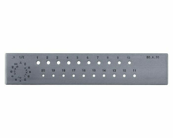 Drawplate   Hardened Tool Steel   Round 4-9ga(3-5mm)   Sold by Pc   113772