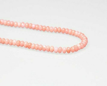 "Oval Pink (Dyed) Coral Beads 6x4mm | Sold By 1 Strand(7.5-8"") 