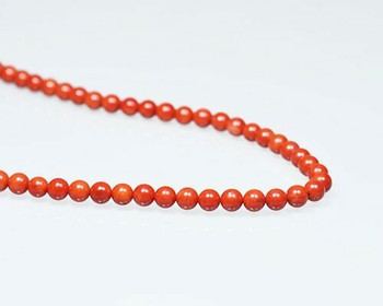 "Round Burgundy (Dyed) Coral Beads 6.5mm | Sold By 1 Strand(7.5-8"") 