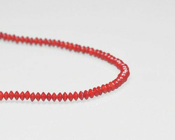 "Saucer Red Coral (Dyed) Beads 4x2mm | Sold By  1 Strand(8"") 