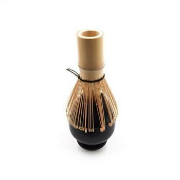 Ceramic Bamboo Whisk Holder | Black |  TWA33