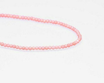 "Round Pink Coral (Dyed) Beads 2.5-3mm | Sold By  1 Strand(7.5-8"") 