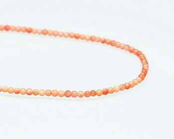 "Round Orange Coral (Dyed) Beads 2.5-3mm | Sold By  1 Strand(7.5-8"") 