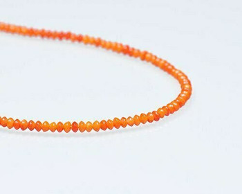 "Saucer Orange Coral (Dyed) Beads 2x3.5mm | Sold By  1 Strand(7.5"") 