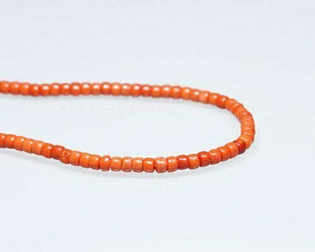 "Heishi Orange Coral (Dyed) Beads 3x4mm | Sold By  1 Strand(8"") 