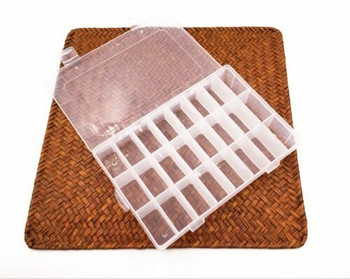Clear Storage Box with 24 compartments | CSB24