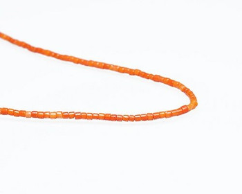 "Heishi Orange Coral (Dyed) Beads 2x3mm | Sold By  1 Strand(8"") 