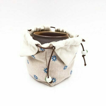Teaware Bag   Blue Daisy   TF35A